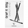 Bloco de Desenho Clairefontaine Graf It 90g/m² A4