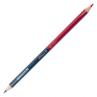 Lápis de Cor ponta dupla Pelikan, com duas cores diferentes em cada uma das pontas, uma ponta na cor Vermelha e outra na cor Azul.