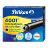 Cartucho para Caneta Tinteiro Preto Pelikan 4001 TP/6