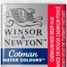 Aquarela Winsor & Newton Cotman Pastilha 098 Cadmiun Red Deep Hue
